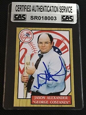 "Jason Alexander ""George Costanza"" Seinfeld Signed Autographed Card Cas Authentic"