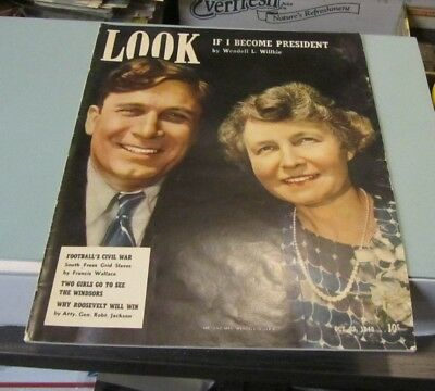 October 22 1940 Look Magazine Wendell Willkie Football Scholarships WWII News