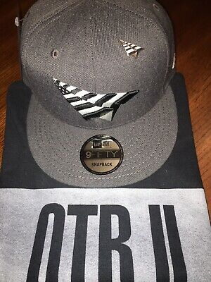 e267ad7aea3 Roc Nation Charcoal Grey Snapback Hat With Pin! Paper Planes 9Fiftyfit Jay-Z  Hat