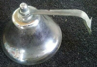 "Perko original Fog Bell 6"" Chrome Vintage Ship Nautical BOAT marked perko"