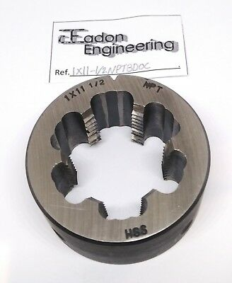 """1"""" x 11 1/2TPI NPT (National Pipe Taper) Button Die, HSS. By top brands."""