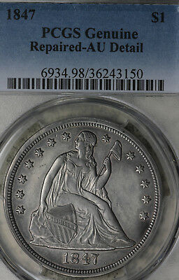 1847Seated Liberty Dollar - PCGS AU Details!