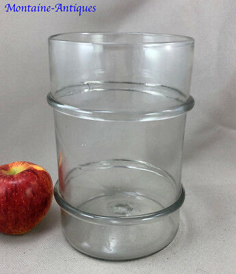 Pittsburgh Blown Glass Ringed Jar Cannister 19th century
