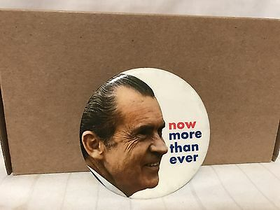 Vintage President Nixon Now More Than Ever Campaign Button 3""
