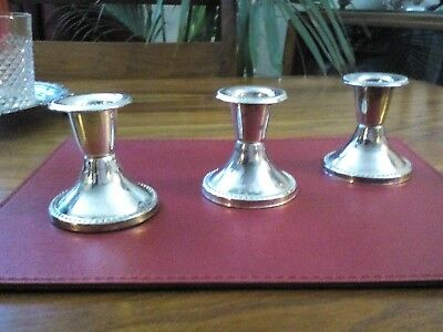 Vintage Silver Plated Candle Holders-set of three