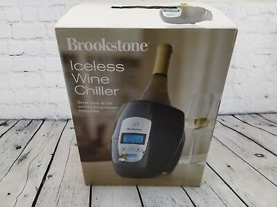 Brookstone Iceless Electric Wine Chiller Cooler Bucket Programmable With Adapter