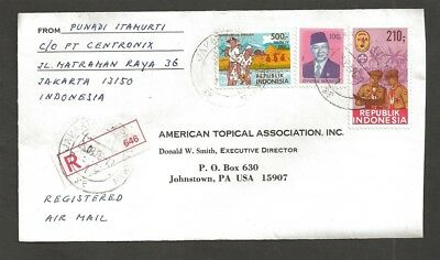 1968 Boy Scout Indonesia Camp stamp commercial usage registered