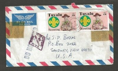 1977 Tuvalu Boy Scout Jamboree commercial customs stamp