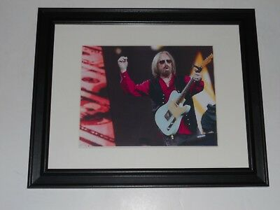 """Framed Tom Petty & Guitar 2017 40th Anniversary Tour Print Poster 14"""" by 17"""" #2"""