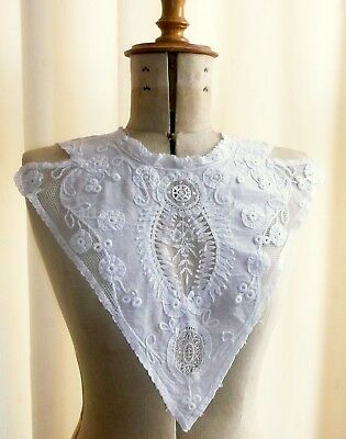 Antique French Mixed Lace Bodice Front