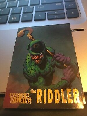 1995 Batman Master Series Villians Insert #4 The Riddler!