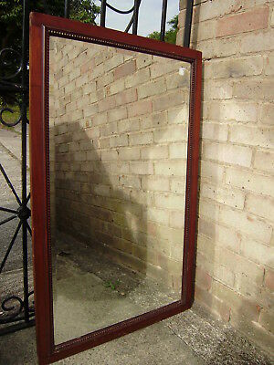 Extra Large Antique Mahogany Bevel Edged Mirror With Solid Wood Back Panel