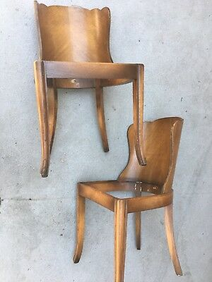 Pair French Art Deco Dining Club Chairs Frankl Rohde Deskey Ralph Lauren Style!