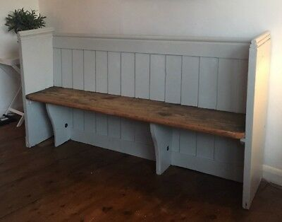 Victorian Painted Pine Church Pew