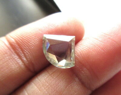 OOAK 1.50CTW 11.3MM Clear White Loose Moissanite Rose Cut Cabochon For Ring MM84