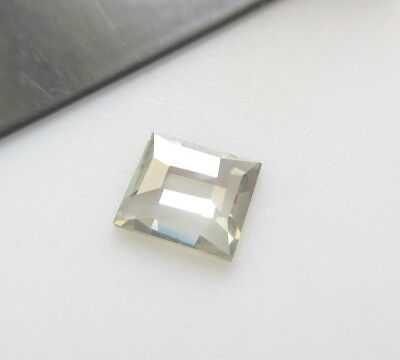 OOAK 0.75CTW 7.1MM Clear White Loose Moissanite Rose Cut Cabochon For Ring MM89