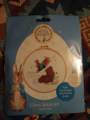 Beatrix Potter ,peter Rabbit Cross Stitch Kit Lippity Hop