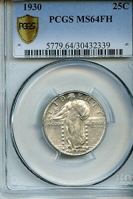 1930-P PCGS MS64 FH Standing Liberty Quarter Great Luster!!!!!!!