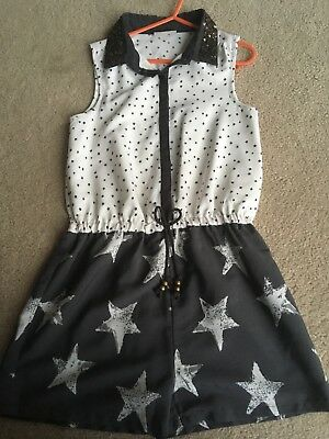 Girls short sleeve/leg Playsuit. Next. Age 8 years. Excellent Condition