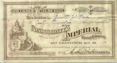 Consolidated Imperial Mining Company  No. 6389