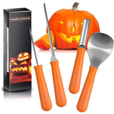 5 PCS Pumpkin Carving Knife Tools Double Sided Halloween Sculpting Carve Kit