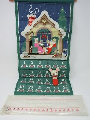 """Avon Christmas Countdown Calendar with Mouse """"New"""" Vintage 1987 Advent"""