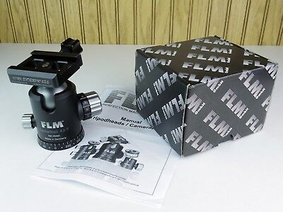 """FLM Centerball 43F Ball Head (MINT)   &   Kirk Photo 2.5"""" Quick Release Clamp !"""