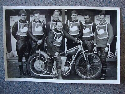 Original Postcard Size Speedway Photo Of Halifax Team 1968. All Riders Named.