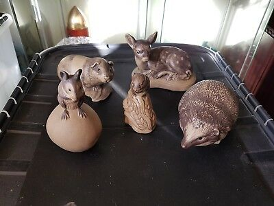 Poole Pottery Set Of Stoneware Animals Lovely Condition