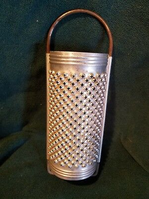 Vintage M&M De-Oses JTR Round Cheese Grater Punched Tin Rustic Decor France