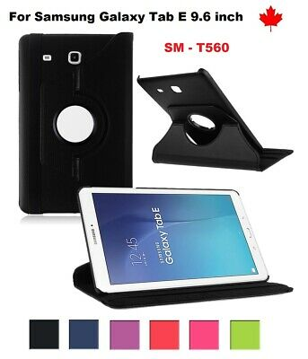"""For Samsung Galaxy Tab E (9.6"""") SM-T560 ,360° Leather Stand Tablet Case Cover"""