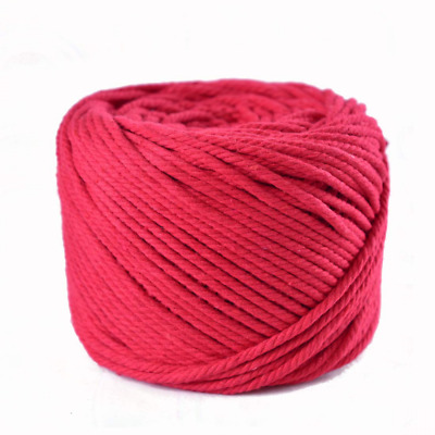 Natural Cotton Cord Round Braided Drawstring Cord Handmade Knitting Cord Rope