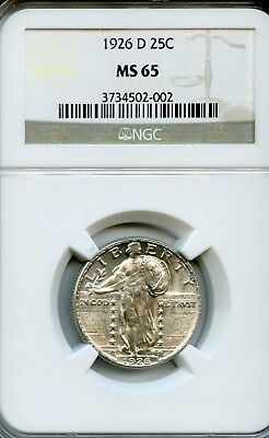 1926-D Standing Liberty Quarter NGC MS-65