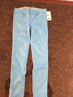 Girls Ralph Lauren Polo turquoise jeans leggings pants, size 7, NWT