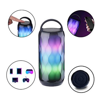 Bluetooth Speakers Portable LED Light Wireless Mini Color Changing Stereo Bass