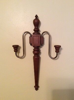 Tell City Chair Co. Double Candle Wall Sconce #48 Andover finish Hard Rock Maple