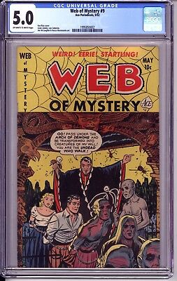 Web Of Mystery #9 Cgc 5.0 Ow White Pages!  Walking Dead Zombie Cover!