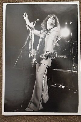 Original photo Marc Bolan T.Rex B&W Approx 8 inches x 12 inches