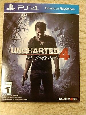 Cardboard Sleeve NEW Uncharted 4 A Thief's End Standard Ed PlayStation 4 PS4 NFR