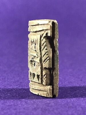 Highly Unusual Circa 1075-332Bc Ancient Egyptian Token W/hieroglyphs