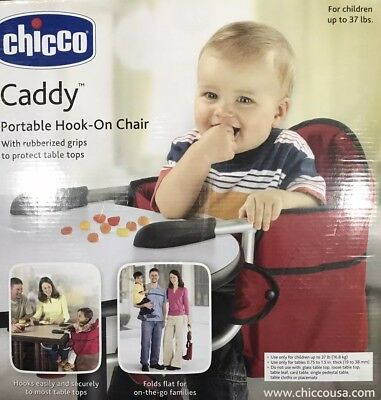 Easy Diner Portable Hook On High Chair Baby Toddler Folding Booster Seat Travel
