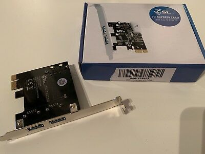 CSL PCI Express Card USB 3.0 2 Ports Adapter