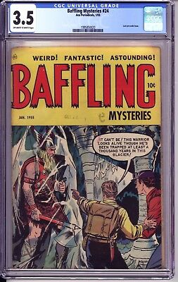 Baffling Mysteries #24 Cgc 3.5  Oww Pages!  Thor-Like Cover And Story!