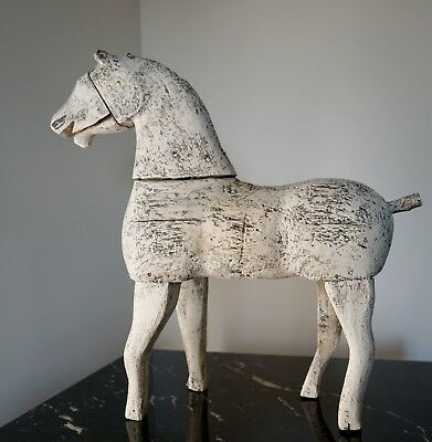 18Th-Century Antique French Handcarved Wooden Horse