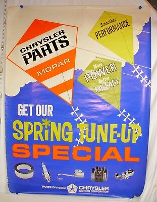 Chrysler Mopar Get Our Spring Tune Up Special Kites Dealer Poster Original