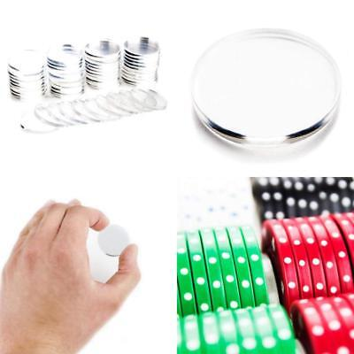 Brybelly Clear Acrylic Poker Chip Spacers