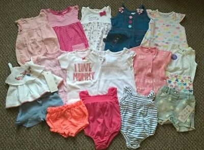 Baby Girl Clothes Summer Rompers Shorts Outfit Bundle Newborn / Up to 1 month