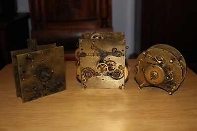 3 X Clock Movements (spares or repairs).