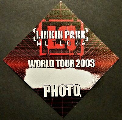 *** Linkin Park *** - Satin Backstage Pass - Meteora - World Tour - 2003 - Photo