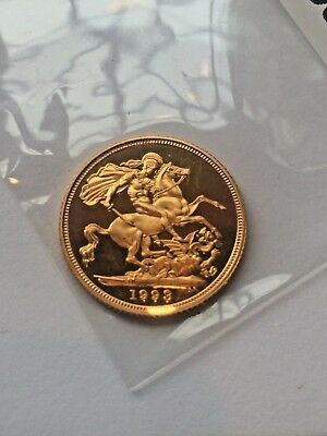 "1993 Full Sovereign gold coin ""PROOF"" Low Mintage"